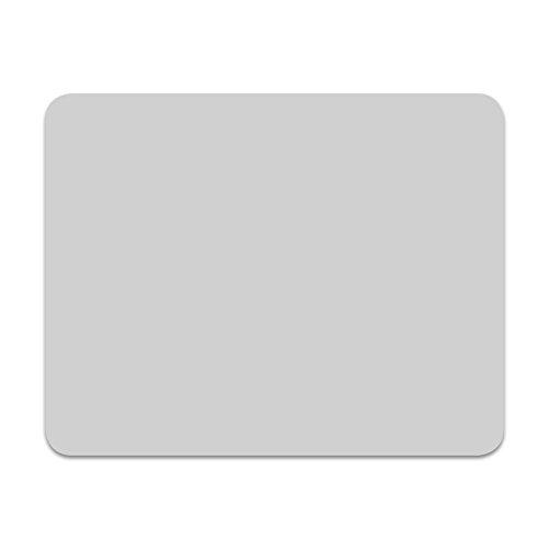 Maus-Pad grau | dv_280 | 24 cm x 19 cm eckig | Mouse-Pad mit Rutschfester Unterlage | Standard-Größe schlicht modern