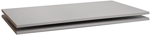 Express Möbel 100er Wäscheböden 2er Pack 18mm  silber grau BxHxT 55x1,8x92 verschiedenes Zubehör zur Auswahl