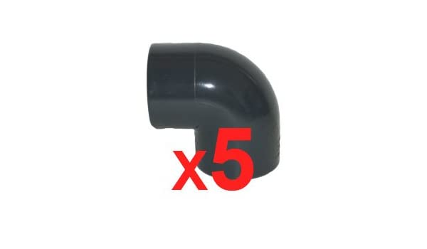 PISCINEO Lot de 10 Coudes Angle 90/° PVC Pression diam 50