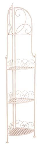 AUBRY GASPARD NET2350 Etagère d'angle Pliante en métal laqué Blanc