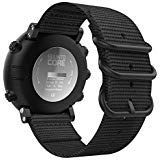MoKo für Suunto Core Smart Watch Armband, NATO Nylon Uhrenarmband Ersatzarmband Handgelenk Band Strap für Suunto Core Smart Watch Armbandlänge - Schwarz