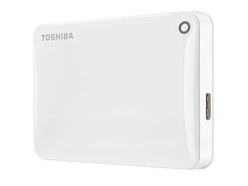 "Toshiba Canvio Connect II - Disco duro externo de 1 TB (USB 3.0, 6,35 cm (2.5"")), blanco"