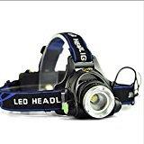 Zantec LED Scheinwerfer XM L T6 Zoomable wiederaufladbare Scheinwerfer 18650 batteriebetrieben (nicht im Lieferumfang enthalten) 900Lumen Helm Taschenlampe für Camping / Laufen / Wandern / Angeln (Bluetooth-pionier)