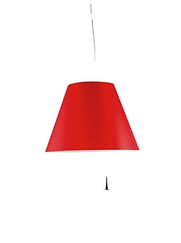Luceplan Costanza D13 Sa.S. Rosso Primario Lampada A Sospensione