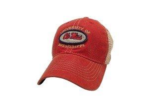 Ole Miss Rebels Hat Verstellbare Trucker Style (Miss Ole Hats)