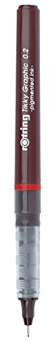 rOtring Tikky-Grafik-Fineliner-Stift (0,2mm) schwarze Tinte