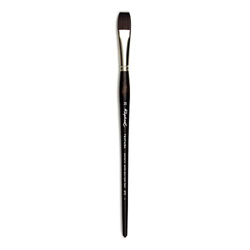 Raphael Textura Heavy Duty Synthetic, Acrylic & Thick Medium Brush, Series 870, Flat, Size 20