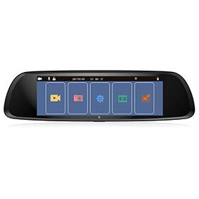R Auto DVR Auto DVR Auto DVR 20 cm Monitor Smart 1080P Nachtsicht Auto DVR Touch Rückspiegel Kamera - Schwarz ()