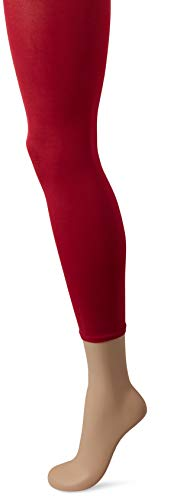 FALKE Damen Leggings blickdichte Strick-Leggings Cotton Touch Baumwolle Blickdicht 1 Paar, Rot (Ribes 8547), S-M (Herstellergröße: 38/40) -