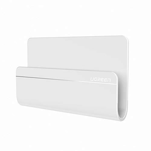 UGREEN Ladehalterung Handy Wandhalterung Handyhalterung für iPhone X/8 Plus/8, Samsung S8 plus/S8/S7/A5, Huawei mate10/9/P9/P10/P8, LG, Google Pixel, iPad miniWeiß (Wand-fliese Leichte)