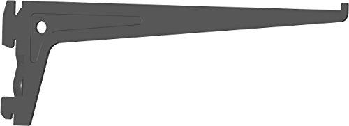 Element System PRO-Träger Regalträger 1-reihig, 2 Stück, 7 Abmessungen, 3 farben, lange 25 cm für Regalsystem, Wandschiene, schwarz, 18133-00007