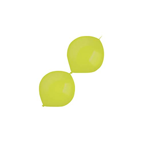 amscan 9905618 100 - Globos de látex (izquierdos, Metalizados), Color Verde