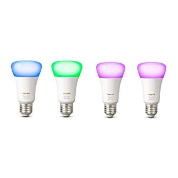 Philips Hue White and Color Ambiance - Pack de 4 bombillas LED E27, 9,