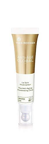 Yves Rocher ANTI-AGE GLOBAL Ausstrahlungspflege Augen, feuchtigkeitsspendendes Augenpflege-Gel, reduziert Falten, 1 x Tube 15 ml