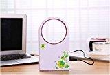 Etbotu Mini USB/Batterien Ventilator Handventilator Handheld Mini Fan Keine Blätter für Sommer Heim Outdoor Camping Büro Reisen Kleine Klinge Deckenventilator