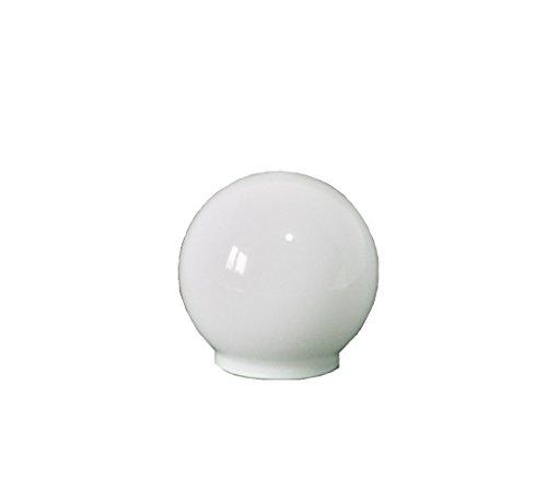 10.0cm diamètre Verre Blanc Sphériques Abat-jour. Circonférence: 31cm, Col (largeur extérieure): 5.5cm dia., Trou: 4.6cm dia. [éclairage lumière ballon rond sphère remplacement lustre globe]