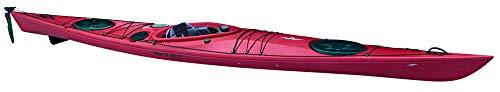 Kajak Seacruiser von Point65 professioneller Seekajak Tourenkajak Wanderkajak, Farbe:Rot;Ausstattung:Mit Skeg/Ruder und Air Sitz