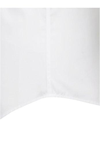 Seidensticker Herren Businesshemd Slim Kurzarm Weiß Uni mit Kent-Kragen Weiß (Weiß 01)
