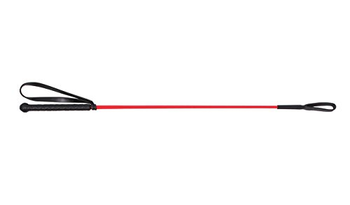 Gerte Reitgerte Springgerte QHP 65cm mit Klatsche (rot)