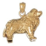 CleverEve 14K Yellow Gold Pendant Cocker Spaniel Dog 4.6 Grams