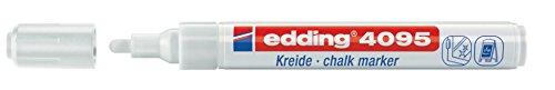 edding 4095 Fenster-/Kreidemarker, 2-3mm, weiß (Tafel Bad)