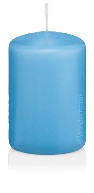 Stumpenkerzen Hellblau 60 x 40 mm 24 Stück, 218101, Hergestellt nach RAL Kerzen-Qualität