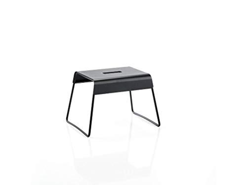 Zone Denmark A-Stool Trittschemel/Tritthocker aus Stahl, stabil und rutschsicher, 39 x 30 x 27,5 cm, schwarz
