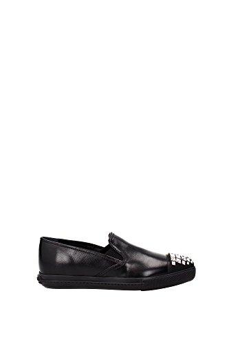 Sneakers Miu Miu Donna Pelle Nero 5S9990NERO Nero 39EU