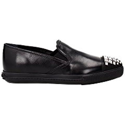 5S9990NERO Miu Miu Sneakers Donna Pelle Nero