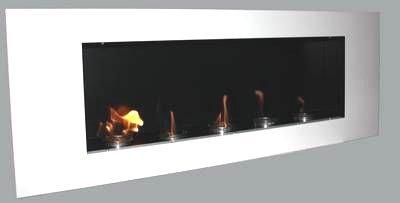 Preisvergleich Produktbild BBT@ / Metall Gelkamin Ethanolkamin Weiß / Für Brenngel oder Bio-Ethanol / BBT-10001120 / Echtes Kamin-Feuer ohne Rauch, Asche oder Staub