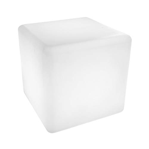 Cubo Luminoso con LUZ LED 40cm, Cambio de Color, Sin Cables, 24H