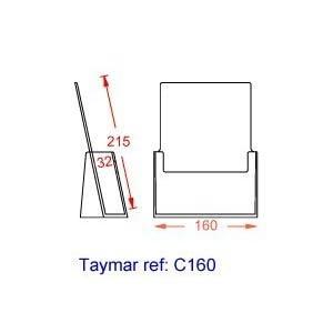 taymar® Tisch-Prospekthalter DIN A5, glasklar