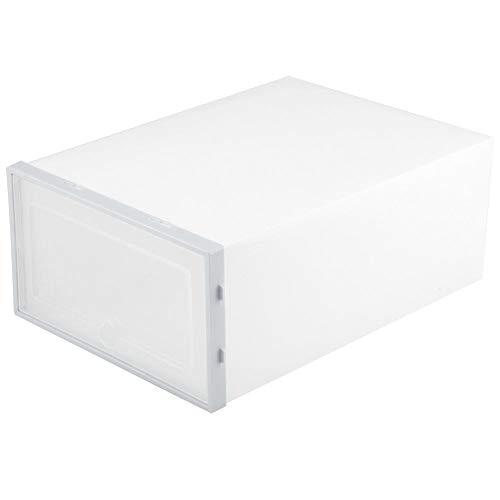 AUNMAS Kunststoff transparente Schuhe Aufbewahrungsbox stapelbare Schuhe Schublade Startseite Zimmer Damen Herren Schuh Veranstalter(2#) -