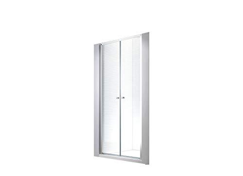 6 mm | 95x195cm Nischen- | Pendeltür | Duchtür | Nischentür | Duschwand | Dusche | Nischendusche | ESG-Klarglas