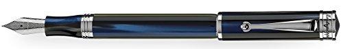 Casi un siglo de esplendor-Colección Ducale Murano Pluma estilográfica Materiales: Resina Acabado: Acero placcatura del lápiz: Acero Graduaciones de escritura del plumín: Media tonalit... de color: blue Paquete original Montegrappa Dos años de gar...