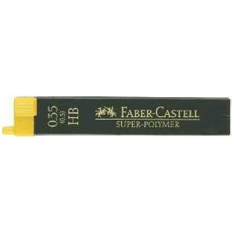 Mina Super de polímero de litio, 0,35mm, H, color negro, 12minas altamente resistentes a la rotura y especialmente gleitfähig. Mina recipiente con entrada de ayuda y ISO de color Etiquetado. Color: Color Negro. Lata con 12minas.