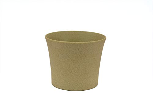 Star Gardens: Simple & Beautiful Cream Color Round Shape Ceramic Pots for Plants Planters for Table top or Office Desk Table Succulent Pots polyresin Pot Ceramic Pot Imported Without Plant SG-CER-052