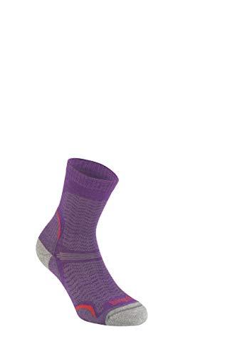 Bridgedale Damen Hike Ultra Light Merino Endurance Pattern Socken, violett, Größe S - Ultraleichte Damen-socken