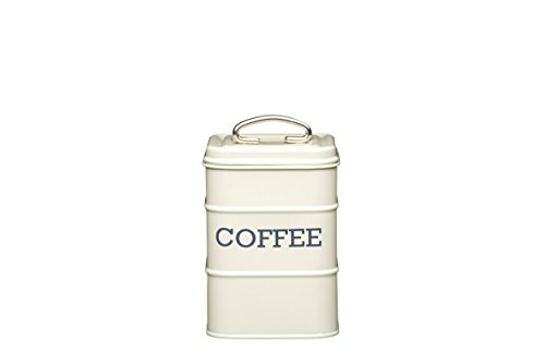 Kitchen Craft Living Nostalgia Metall Tee Caddy, 11 x 17 cm Kaffeebehälter Antik-Cremeweiß