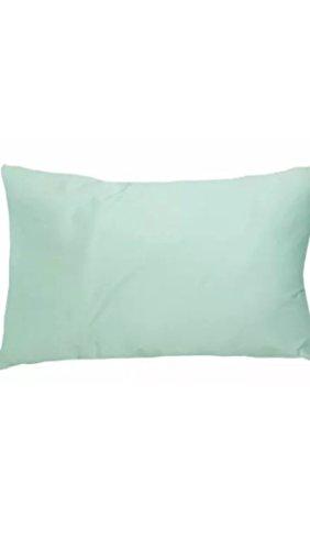 Taie d'oreiller pour lit de bébé 100 % coton, menthe, 40 x 60 cm