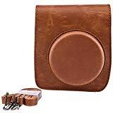 sunmns Retro Vintage de piel sintética bolsa funda con correa para Fujifilm Instax Mini 90Cámara de película instantánea, color marrón
