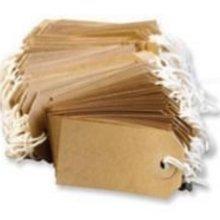 (Kofferanhänger mit Schnur - Kofferetikette aus Manila-Papier - Gelbbraun - 96mm x 48mm - 200 Stück)