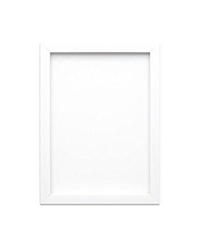 Gebürsteter schwarzer Bilderrahmen/Foto-/Posterrahmen A4, A3 - mit einer Rückwand aus MDF- Bruchsicheres Plexiglas aus Styrol für hohe Klarheit - 19mm breit und 15mm tief - Weiß gebürstet A3