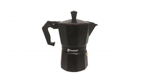 Outwell Alava Espressobereiter 2 Tassen, Black, 7.5 x 13 x 14 cm, 0.1 L