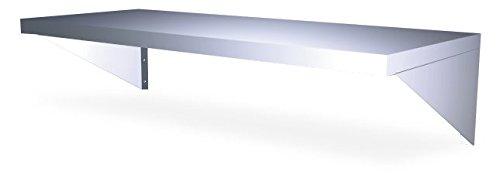 (P) (L) 100-estantería 40 cm en acero inoxidable de pared con équèrres...