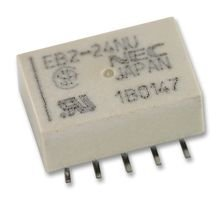 RELAY, SIGNAL, DPDT, 250VAC, 220VDC, 1A EB2-24NU By NEC -