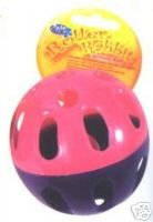 Roller Rabbit Activity Exercise Ball - Rabbit Toy, Jingle Ball by Pet Brands