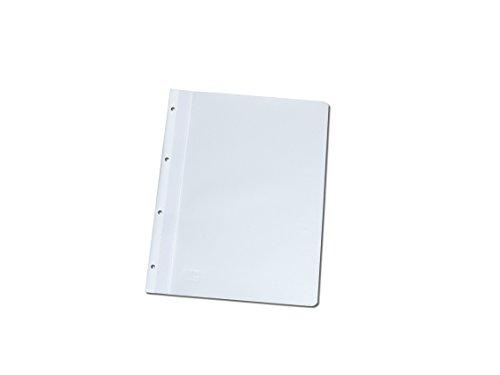 100 Ablage-Schnellhefter / Archiv-Hefter mit Lochung zum Abheften / Farbe: weiß