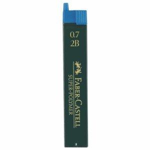 Faber Castell Feinminen Dose mit 12 Minen 0,7mm 2B