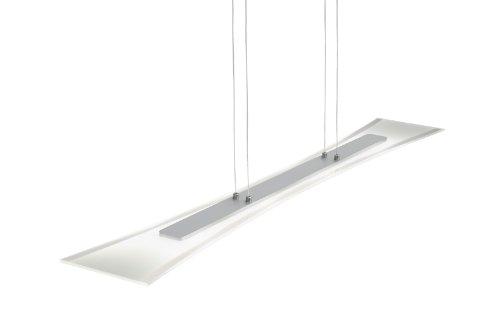 Plafoniera Vetro Satinato Bianco : Trio  plafoniera led in alluminio spazzolato vetro